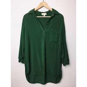 Anthro Cloth & Stone Green Popover Blouse